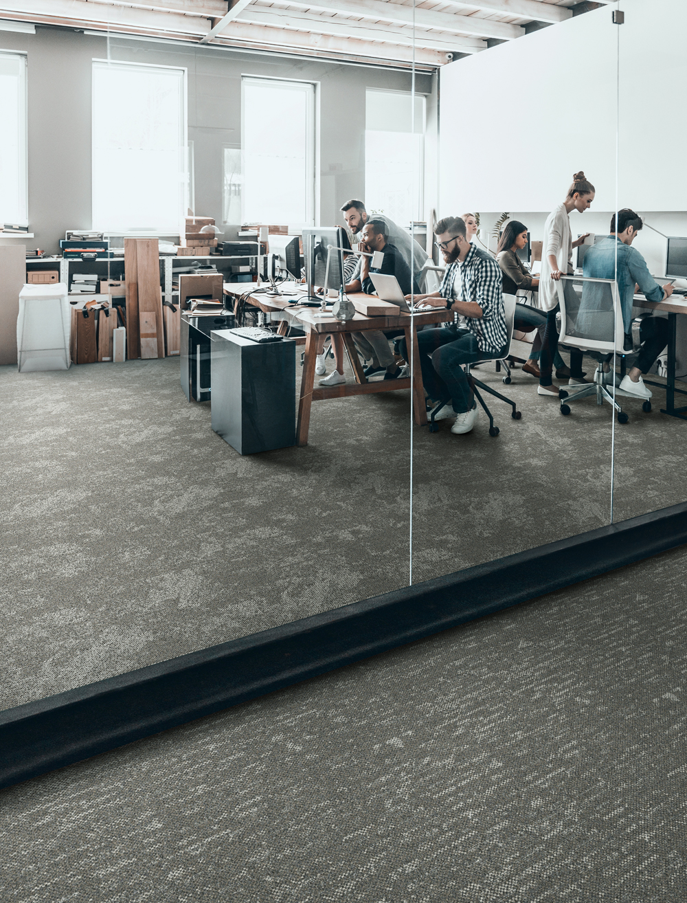 Over the Ocean OC04/Across the Sea SE04  - Over the Ocean and Across the Sea are designed to work in almost any environment requiring soft surface flooring and provide extra comfort under foot and excellent sound absorption.