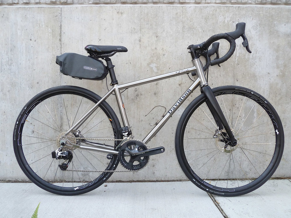 Davidson Titanium E-bike with Sram Red eTap, it weighs 24.5 lbs