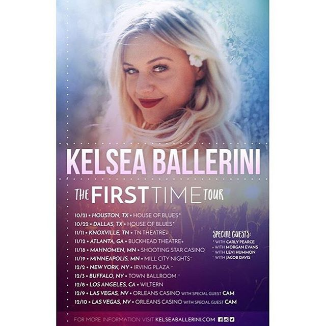 Who is pumped for @kelseaballerini's HEADLINING tour happening this fall/winter!?!? #TheFirstTimeTour