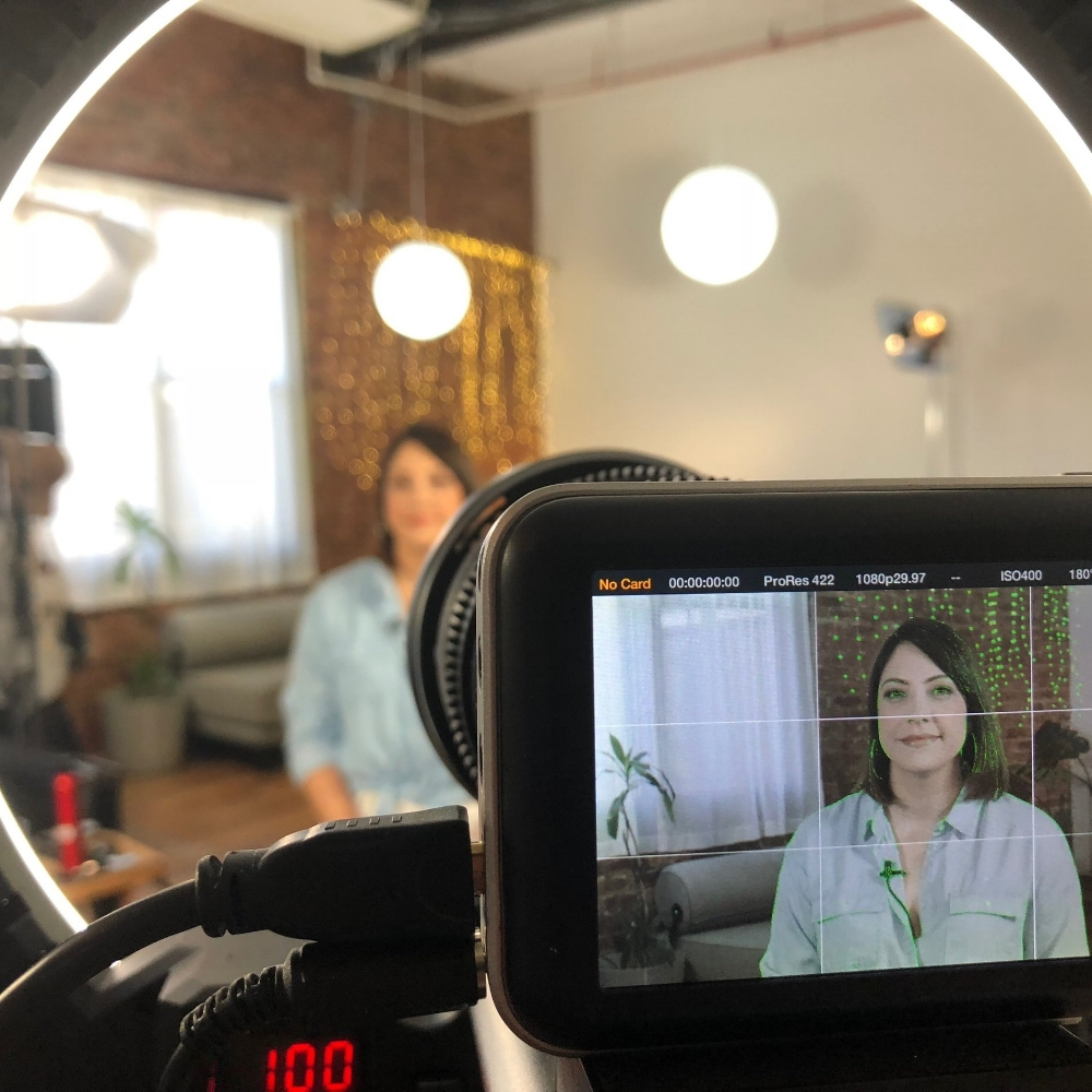 2 Hours Studio Time - Our studio features a two camera set-up, professional quality lighting and audio, and a director to keep your message focused.We also have many background looks to choose from so the decor matches your style.
