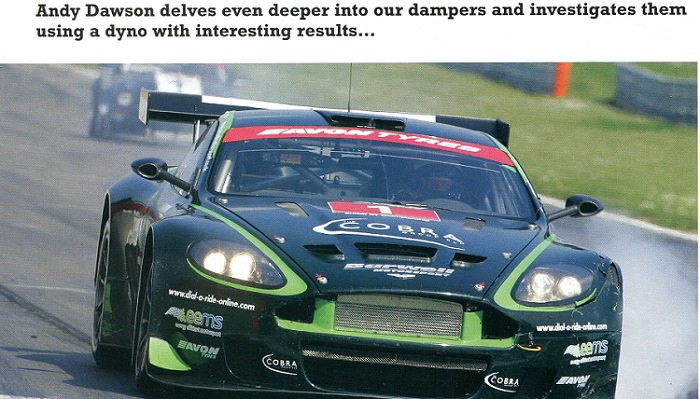 Andy's feature on dampers for Track and Race Car magazine.