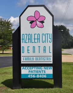 Front Sign at Azalea City Dental Chickasaw Office