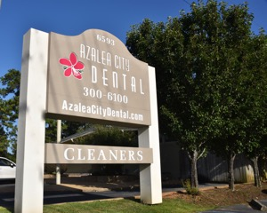 Front Sign at Azalea City Dental Eastern Shore Office