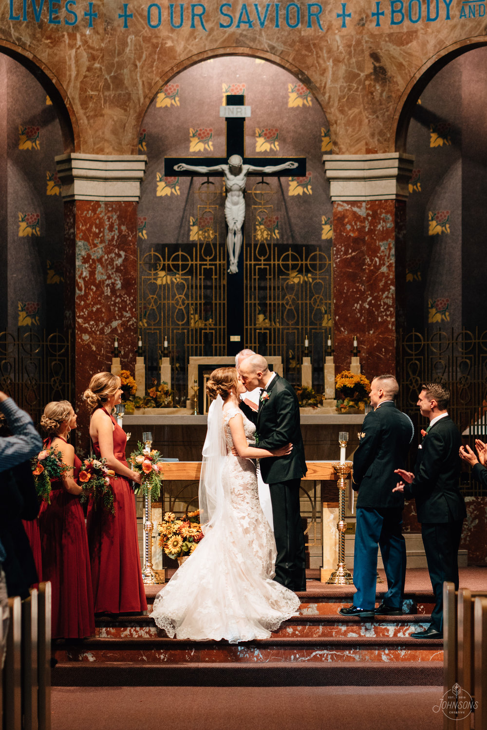 Cedar Rapids Wedding, Wedding Photographers, Iowa, Midwest, Wedding Photos, Sam and Katie, Pritchard, St Patrick Catholic Church