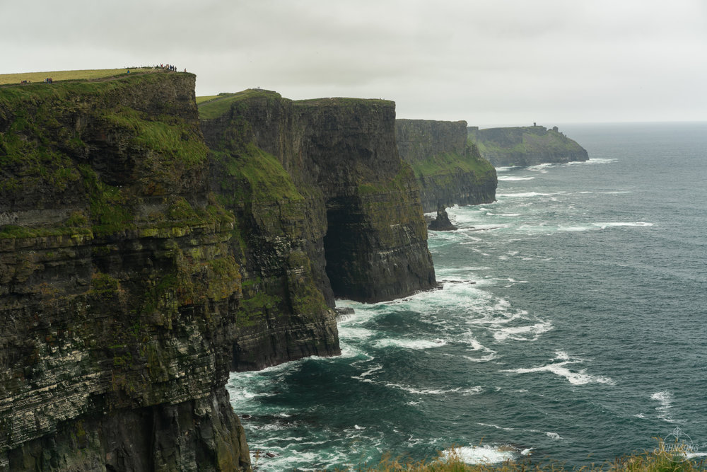 Sony a7rii | 55mm 1.8 | f10 | 1/13 sec | ISO 50 | Lee Circular Polarizing Filter  The Cliffs of Moher are definitely a thing. The road there is tiny and far from straight, and it was almost 10 Euros per person to park (apparently you can make a 2 hour walk and get in free though)    Sadly we missed prime Puffin time.