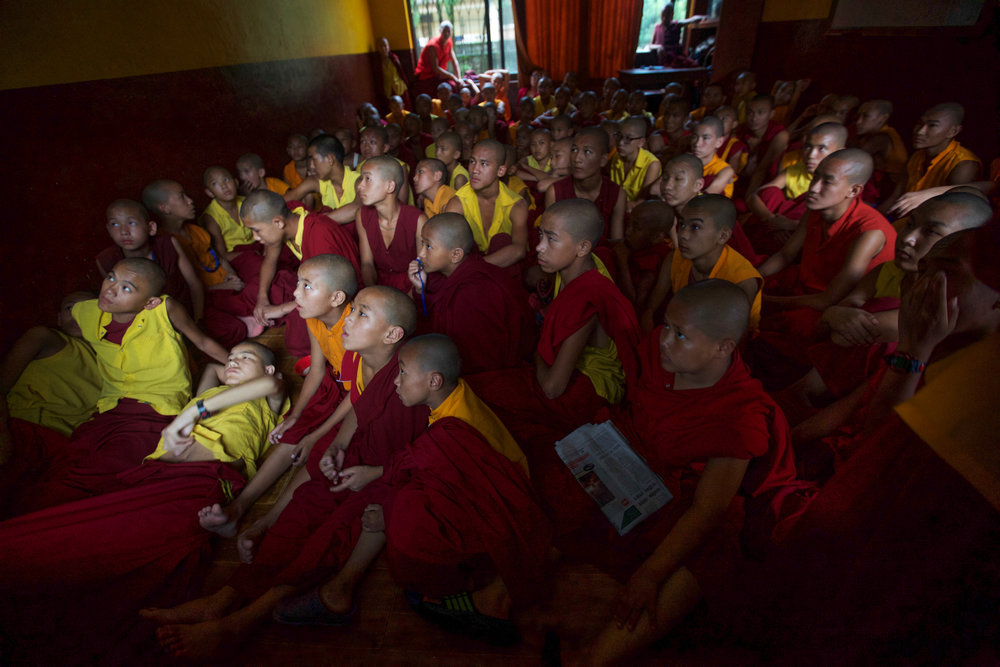 The monks are allowed TV time one day per week
