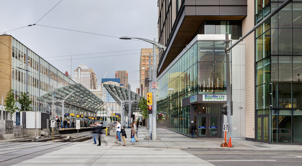 7th Avenue connects people, businesses, and open spaces as part of a revitalized urban realm - 7th Avenue lrt refurbishment