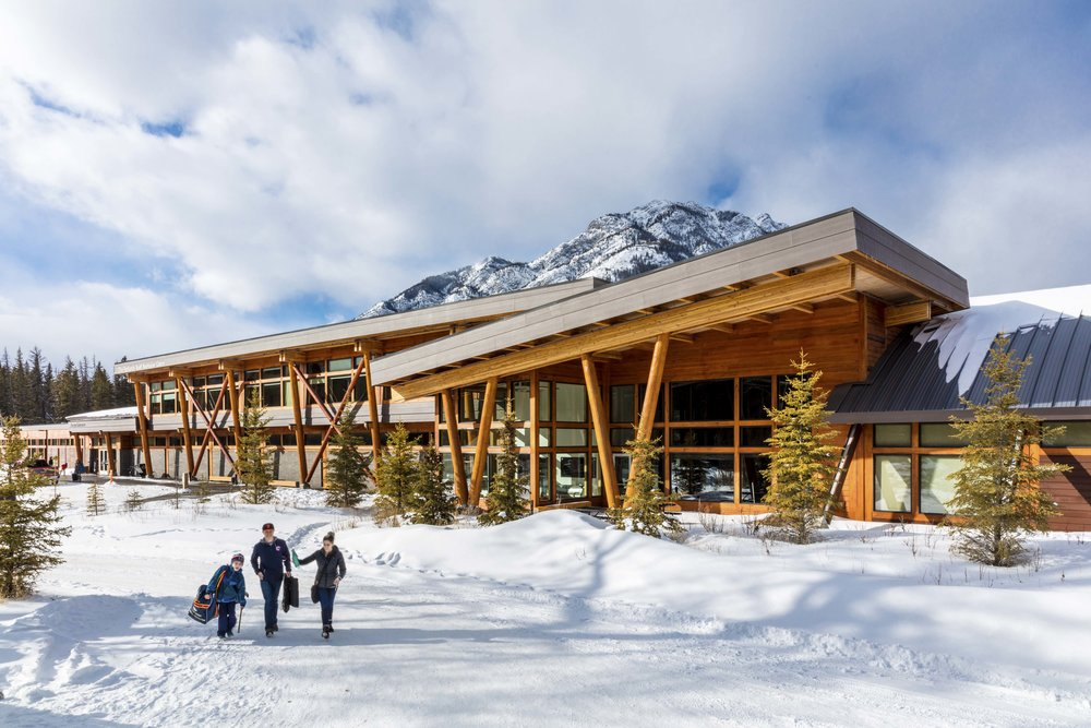 A striking facility for community gatherings and elite competition - fenlands banff recreation centre