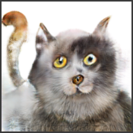 AI created synthetic cat via image-to-image