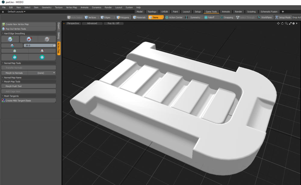 Rounded Edge baked to Normal Map in MODO