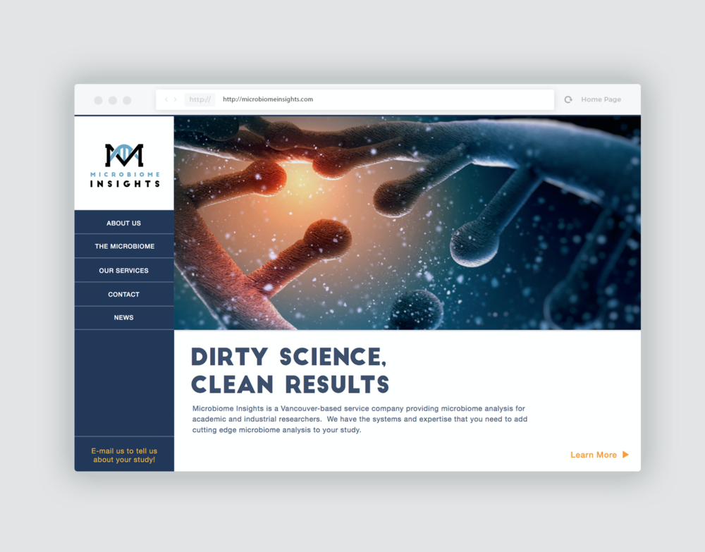 Landing Page Design: Mocribiome Insights