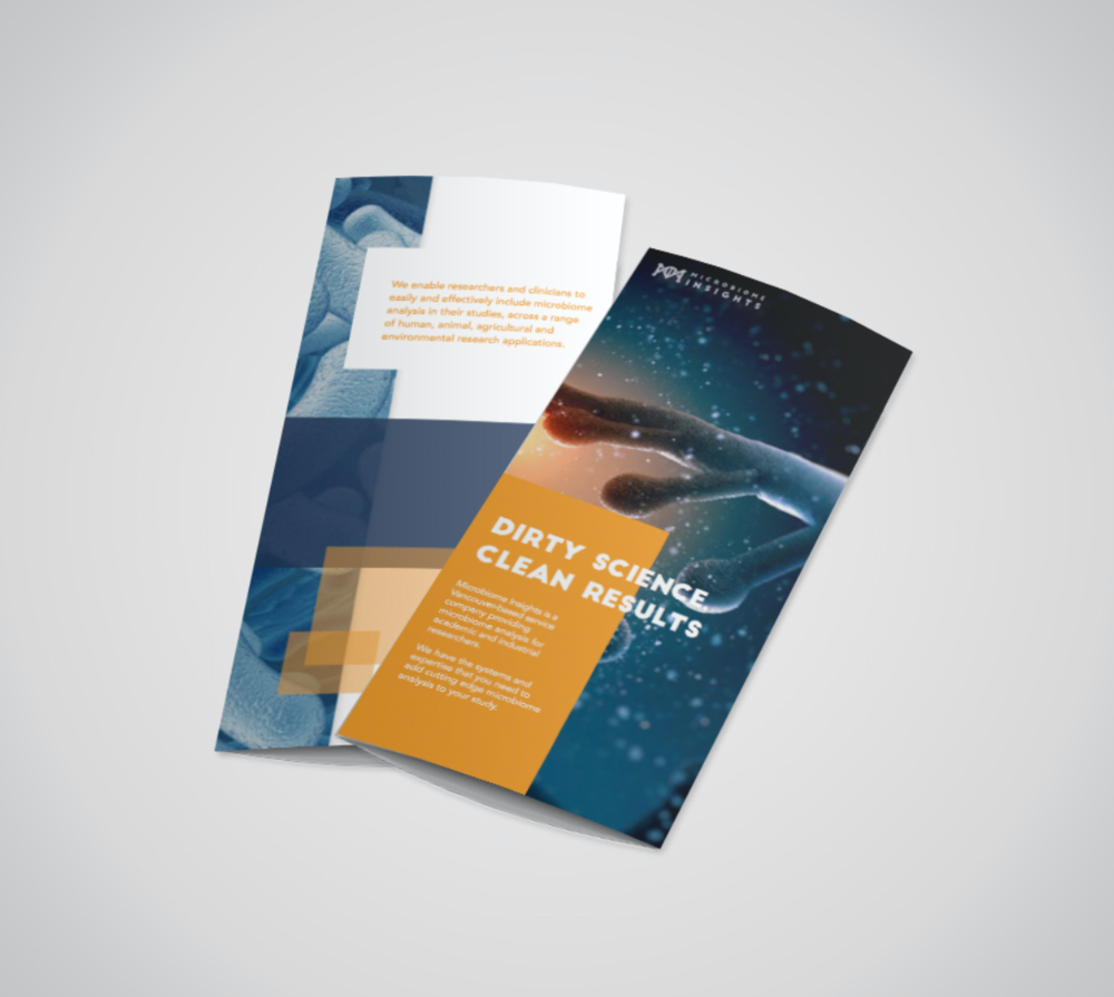 Brochure Design: Microbiome Insights