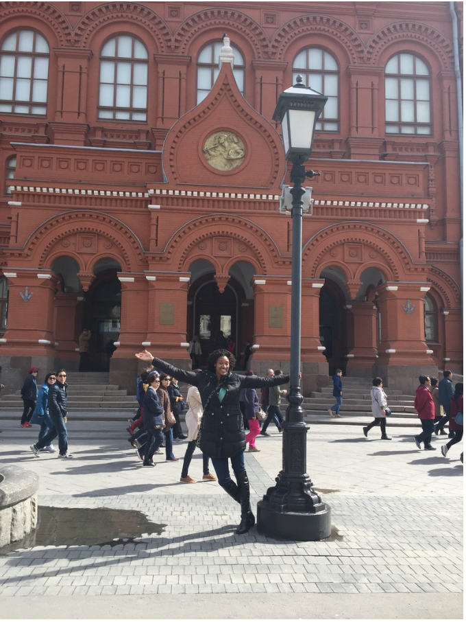 In front of Moscow City Hall