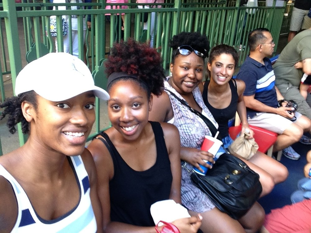 Enjoying our boat ride on the river walk, as we are slowly melting away from all the heat!
