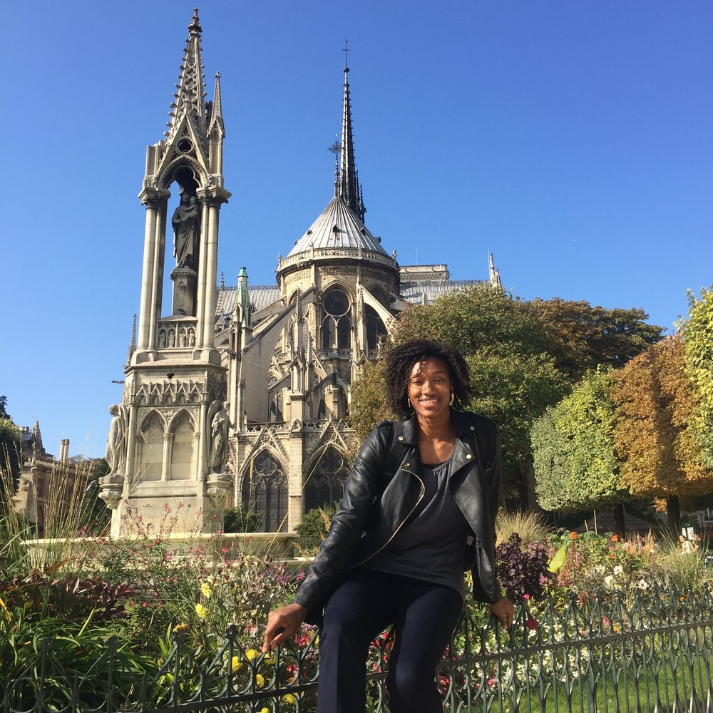 Notre Dame, rocking my Talltique clothing!
