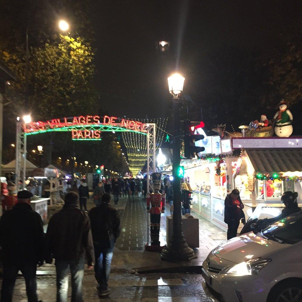 Entering the Paris Christmas Village!