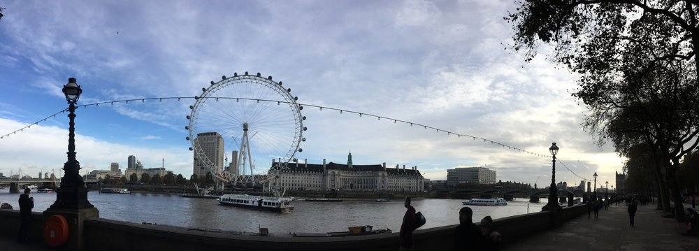 Panoramic view of the London Eye!