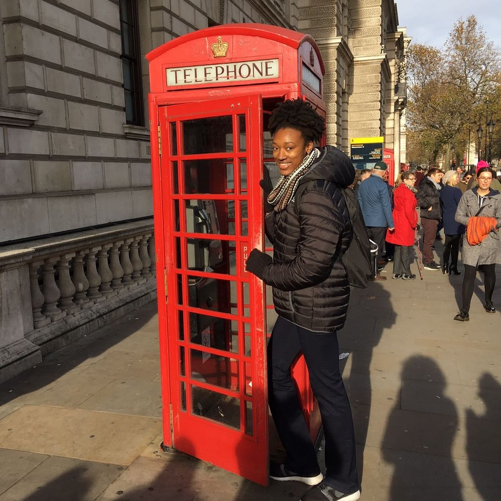 Because you can't come to London and not take a picture with their famous red telephone stations!