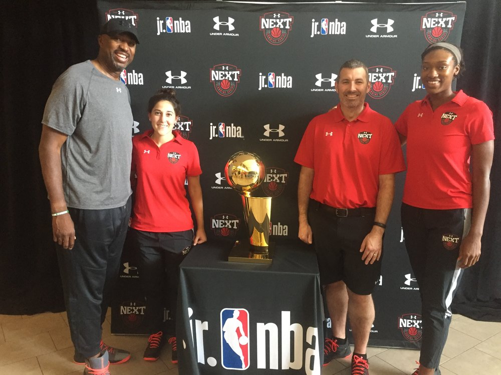 Photo with Larry O'Brien (NBA Finals Trophy) and Under Armour team!