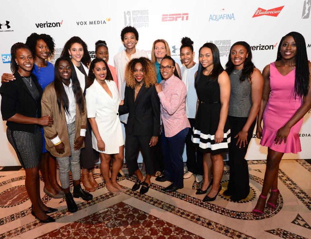 Past and present WNBA players in attendance at the 2017 Inspiring Women Luncheon.