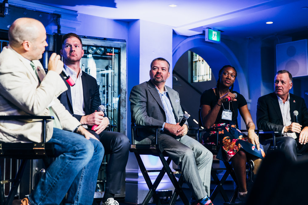 Panelist: Mark Starkey, Dan MacKenzie, myself, and John Mills. Photo courtesy of NBA Canada.