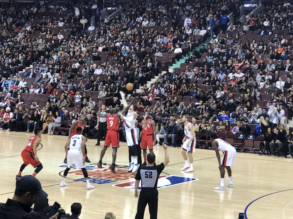 Tip off! Let's go Raptors!