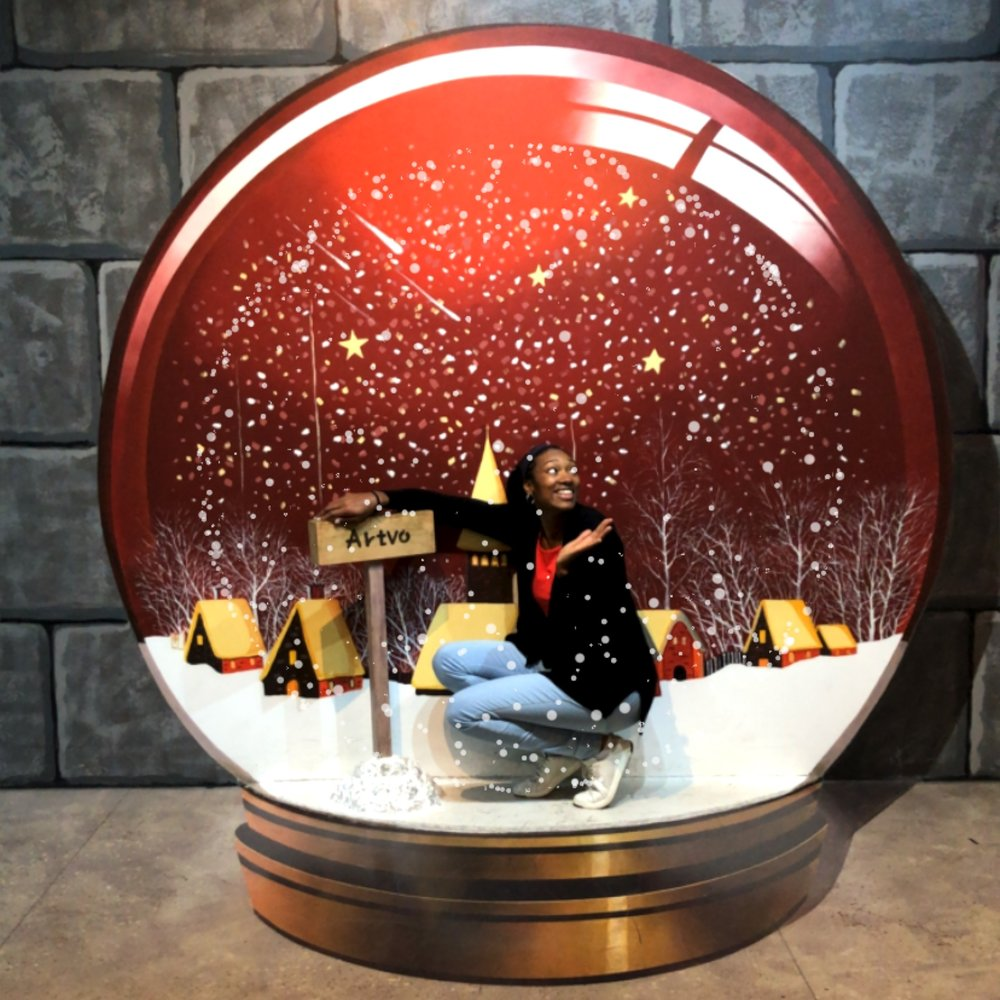 I'm in a snow globe, it's starting to look a lot like Christmas!