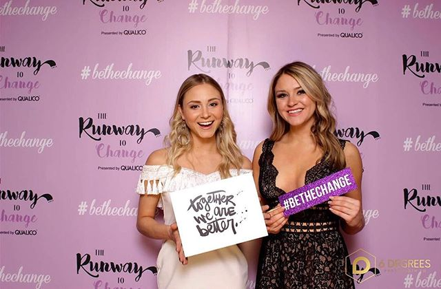 From the two of us, we want to say THANK YOU again for supporting @therunwaytochange and @mainstreetproject 💜 Our hearts are full and we are honoured to help the vulnerable people in our community.