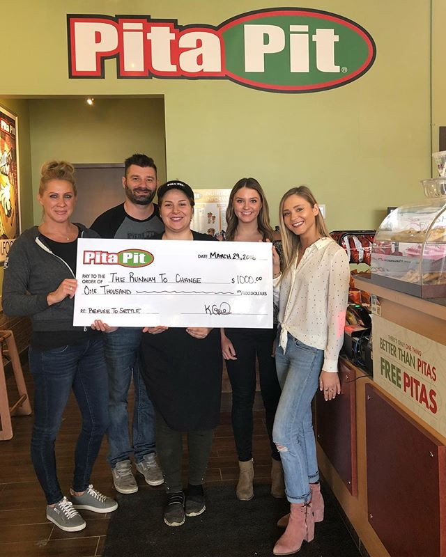 Thank you so much to @khordogentes and @pitaking at @pitapitsterlinglyon for the nomination and @pitapitcanada for the Refuse to Settle award. We are beyond grateful, and can't wait to continue to help our community. 💗