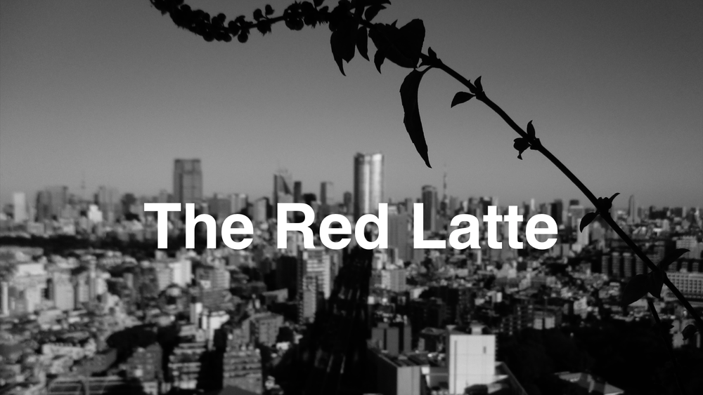The Red Latte Poster Frame BW.png