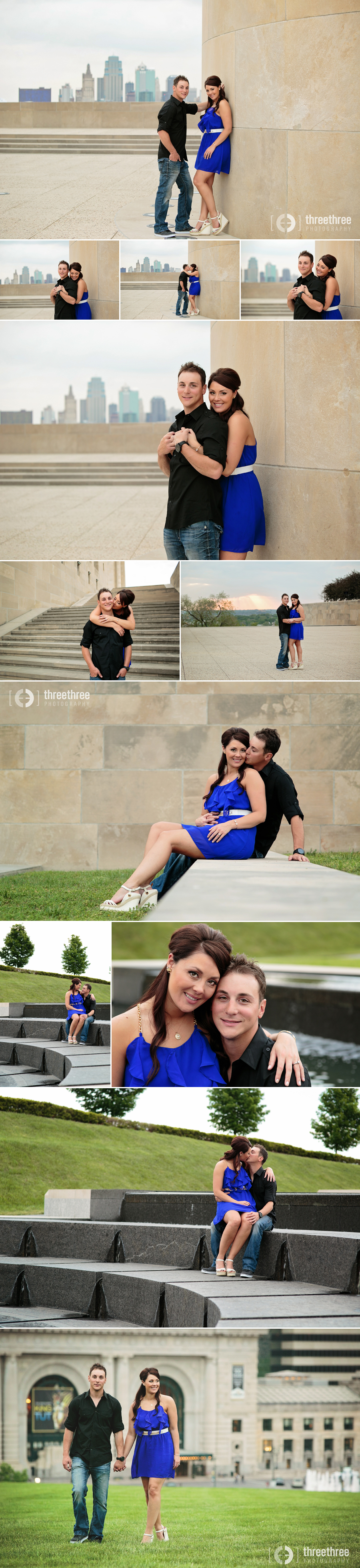 Kansas City Engagement photos Union Station