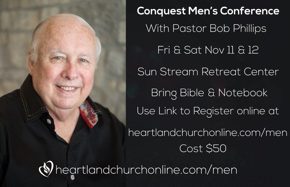 Sign up at  heartlandchurchonline.com/men