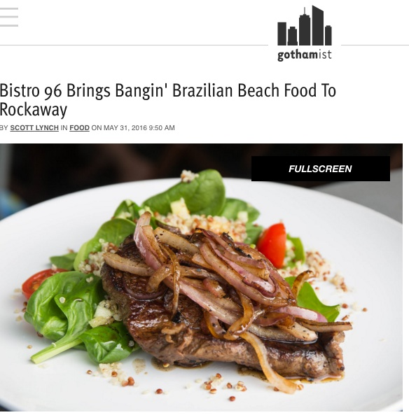 GOTHAMIST: MAY 2016    Bistro 96 Brings Bangin' Brazilian Beach Food To Rockaway