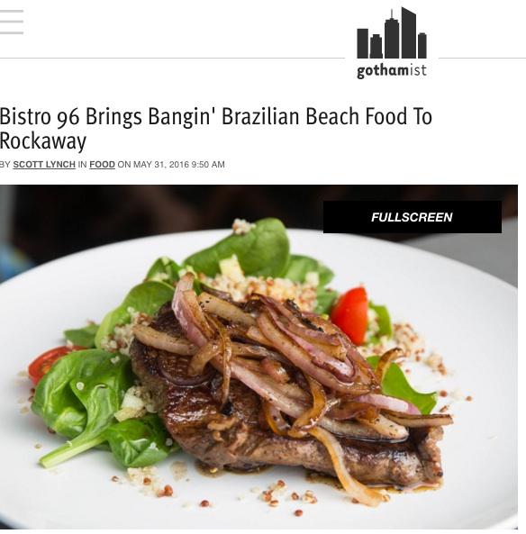 GOTHAMIST: MAY 2016    Bistro 96 Brings Bangin' Brazilian Beach Food To Rockaway