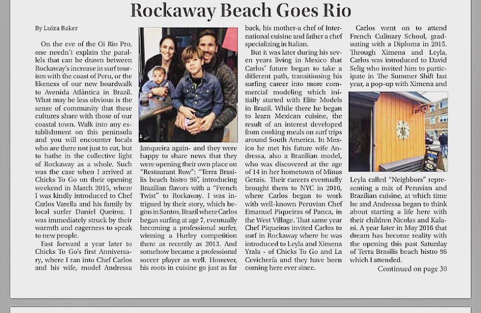 ROCKAWAY TIMES: MAY 2016 Rockaway Beach goes Rio