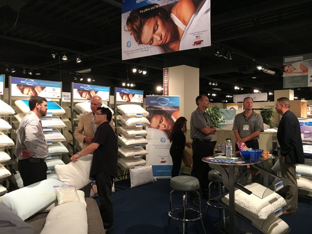 "Brice Hata, National Sales Manager for TMI Products and their REMarkable Pillow Line, had this to say about Summer 2016 in the SSA Showroom, ""We wrote more business at this market than the last two combined!  And, we still have great follow up leads as well."""