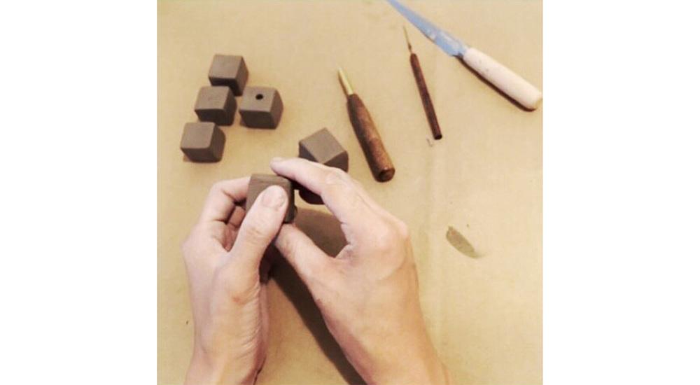 handmade ceramic keyfob