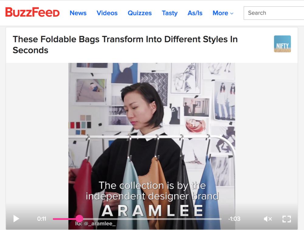 ARAMLEE Convertible bags - BUZZFEED
