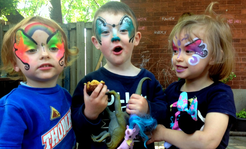 this is a photo of my group of day care kids who inspired me to launch the painted pixie. They were very patient with me as i fumbled through my leaflets of photographs attempting to recreate what i saw in the image.