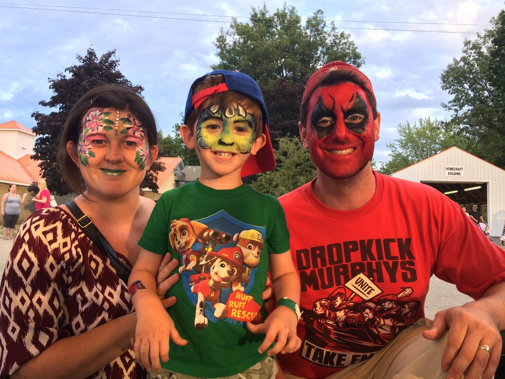 This lovely couple who decided to join in their sons excitement and get face painted as a family