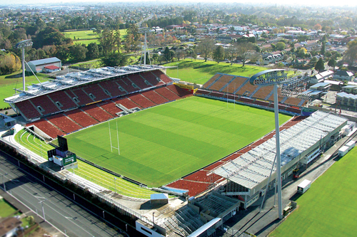WAIKATO STADIUM   FMG Stadium Waikato is a major sporting and cultural events venue in Hamilton, New Zealand, with a total capacity of 25,800.