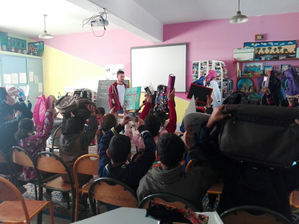 Students at The Ibn Batouta School.