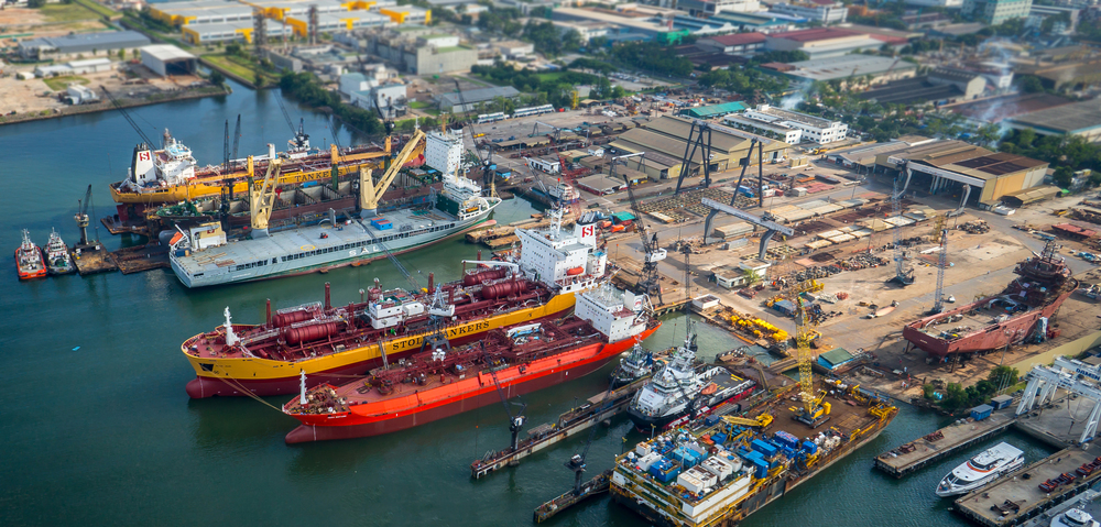The SVENJA is seen among other boats in the DDW-Paxocean shipyard in Singapore