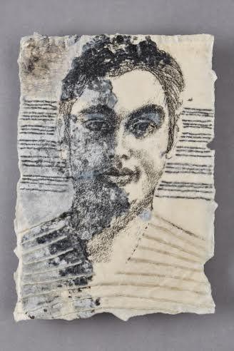"BEN 2015 14"" x 9 3/4""  Mixed media on handmade paper"