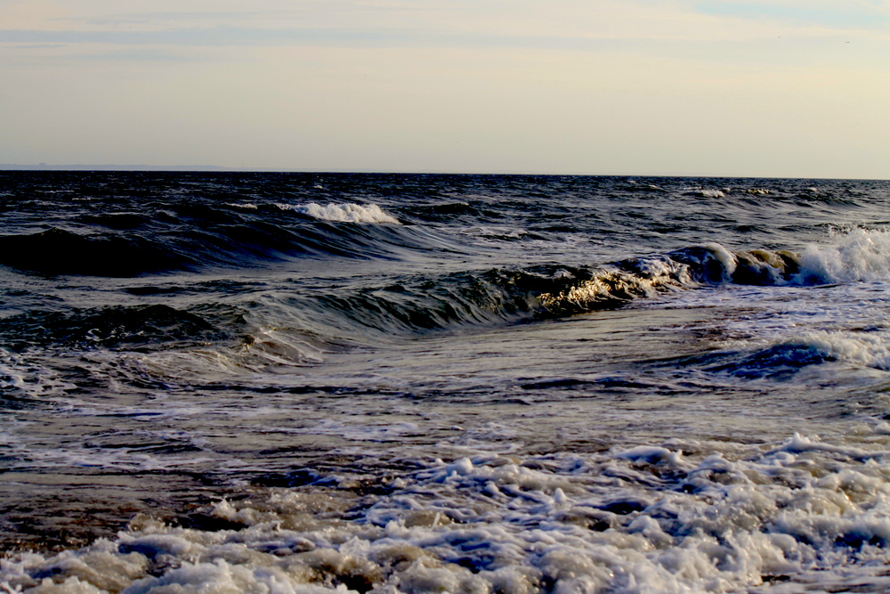 Waves Charge Towards The Shore