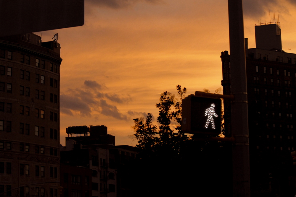 Walking Man & The Sunset