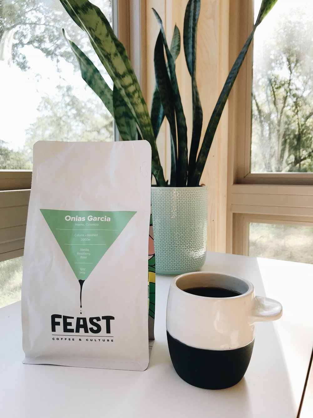 Artisan's FeastSubscriptionStarts at $55 / monthly - This showcases our collaborative endeavors with local artists and artisans to create beautiful, unique Feast merchandise.Details: MONTHLY: 12oz bag of freshly roasted, curated coffee varietal of the month & Feast recipe card. QUARTERLY: Feast merchandise item, seasonal zine.