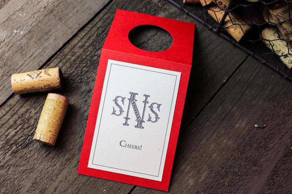 19 Beaded Monogram Wine Hanger 1