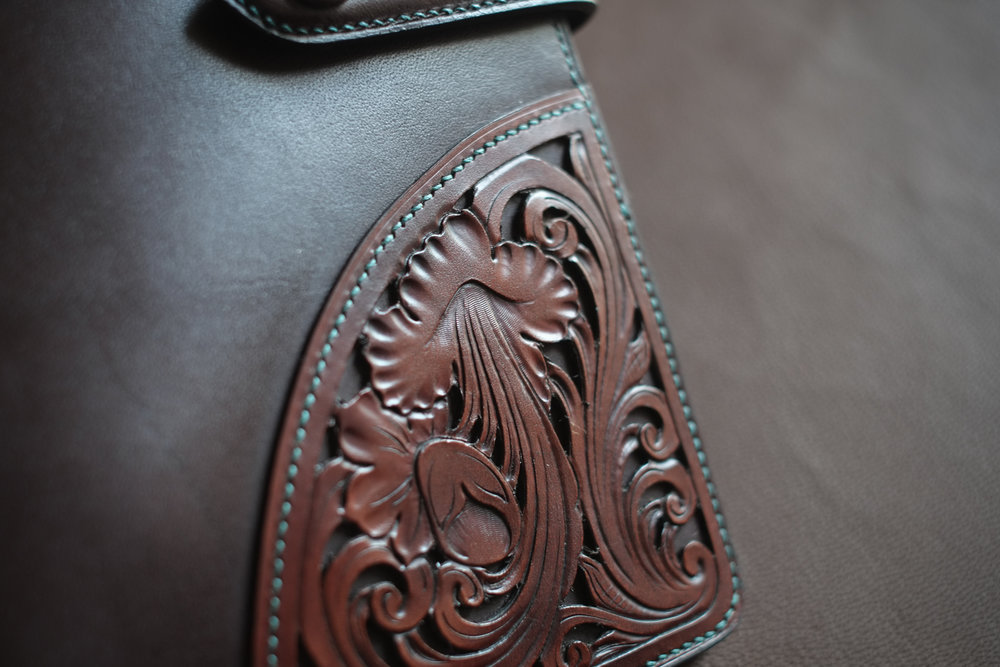 Handtooled Journal Cover - Sold 2016 - $1,155