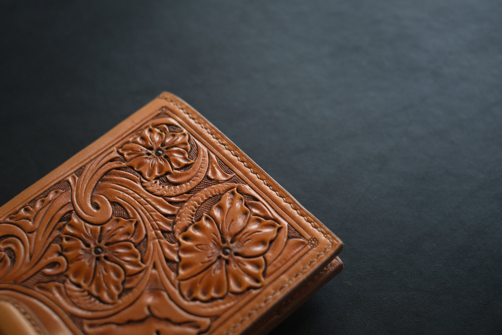 Handtooled Long Wallet - SOLD 2016 - $650
